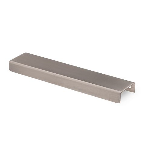 Richelieu 6-inch (152 mm) Center-to-Center Antimicrobial, Brushed Nickel - Copper Edge Pull