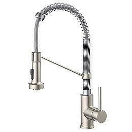 Single Handle 18-Inch Faucet with Pull-Down Sprayhead in Stainless Steel/Chrome Finish