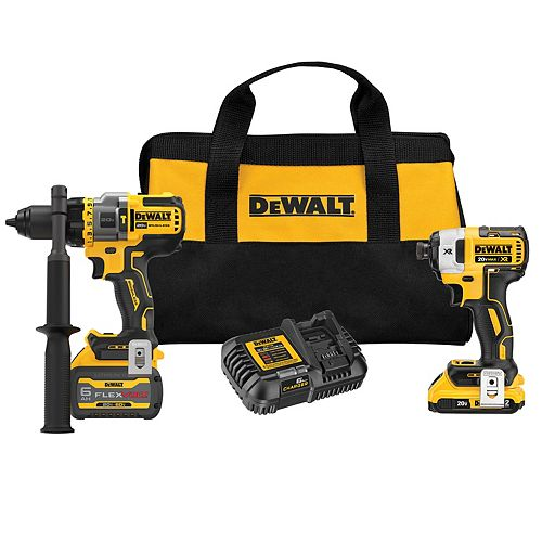 20V MAX with FLEXVOLT ADVANTAGE Lithium-Ion Brushless Drill & Impact Kit