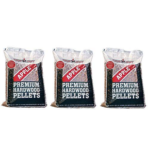 Camp Chef Camp Chef 3 Bags of Apple Premium Hardwood Pellets (20lbs/each bag)