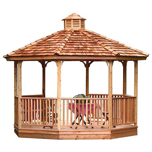 8ft Hexagon Panelized Cedar Gazebo