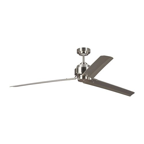 Arcade 68 in. Indoor Brushed Steel Ceiling Fan with Remote
