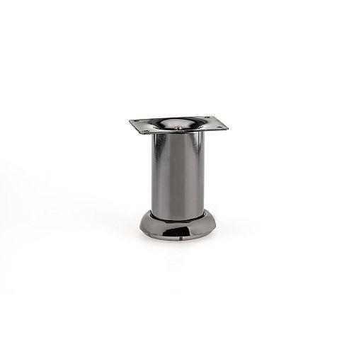 Contemporary Furniture Leg, 3 15/16 in (100 mm), Black Nickel