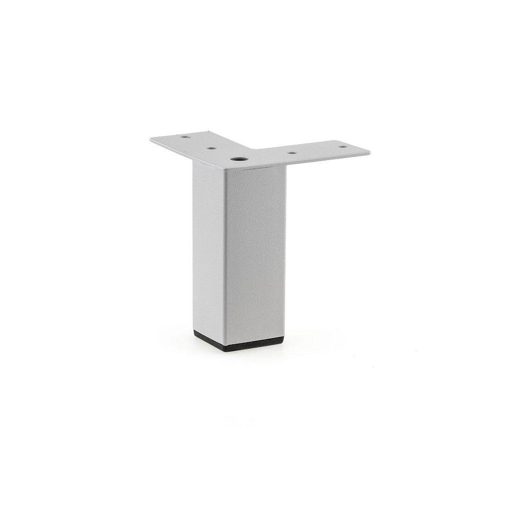 Richelieu Contemporary Furniture Leg, 3 15/16 in (100 mm), Silver Gray