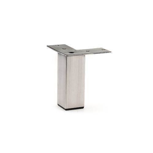 Contemporary Furniture Leg, 3 15/16 in (100 mm), Brushed Nickel