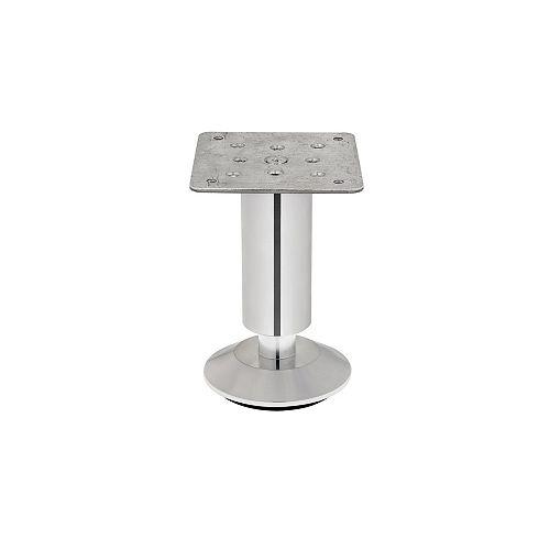 Adjustable Furniture Leg, 4 23/32 in (120 mm), Polished Chrome