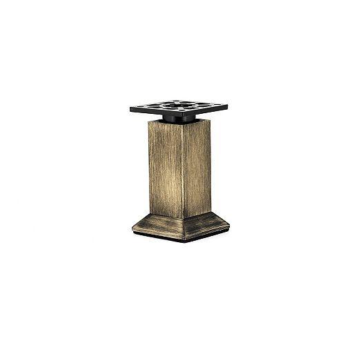 Vintage Square Legs, 5 29/32 in (150 mm), Rustic Brass, Adjustable