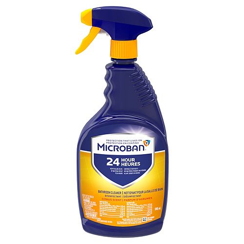 946 mL Citrus Scent 24 Hour Bathroom Cleaner and Sanitizing Spray