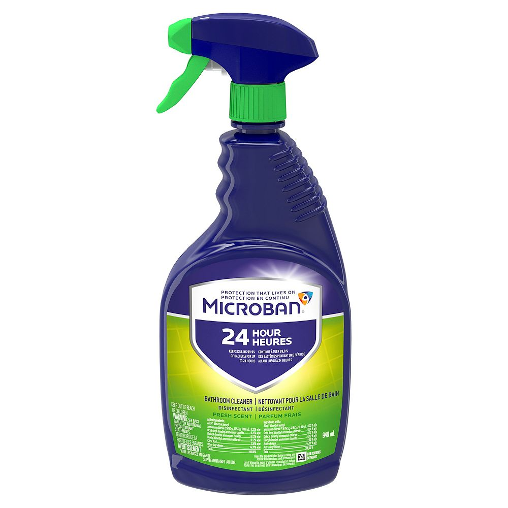 Microban 946 mL Fresh Scent 24 Hour Bathroom Cleaner and Sanitizing Spray