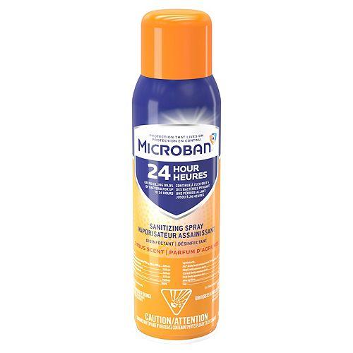 Microban Microban 24 Hour Disinfectant Sanitizing Spray, Citrus Scent, 425 grams