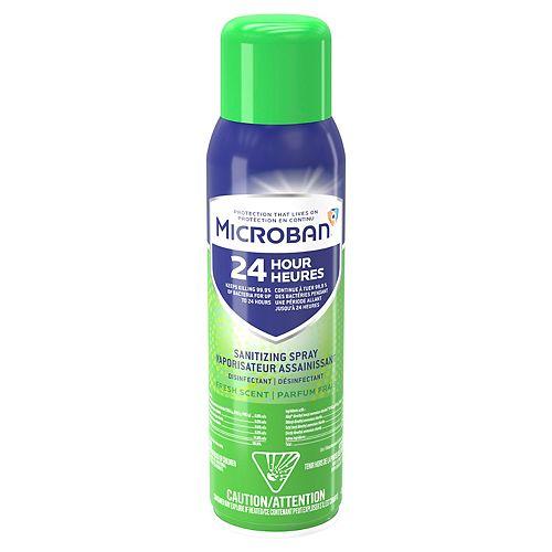 Vaporisateur assainissant désinfectant Microban 24 heures, parfum frais, 425 grammes