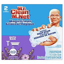 Effaceur magique Récure salle de bain coussins nettoyants Durafoam, lavande de Febreze, 2u