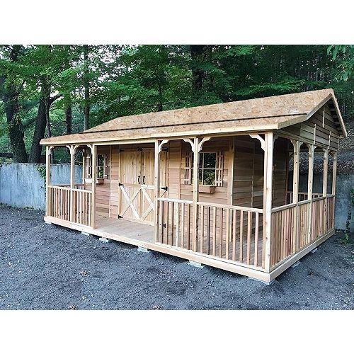 FarmHouse 16x12 Cedar Shed