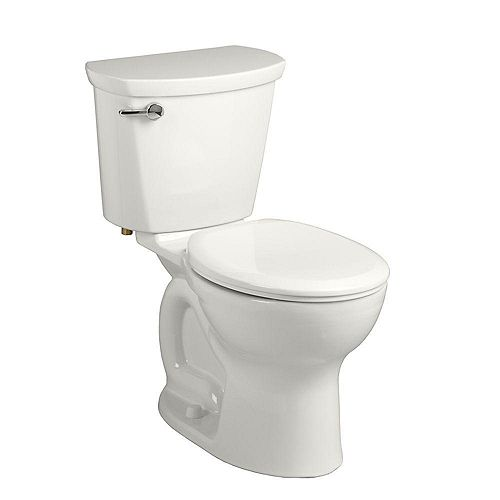 American Standard Cadet Pro 2-Piece 1.28 GPF Single Flush Right Height Round Toilet with 10 in. Rough-In in White