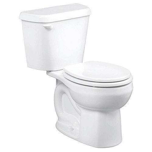American Standard Cadet Pro 2-Piece 1.28 GPF Single Flush Round Toilet in White