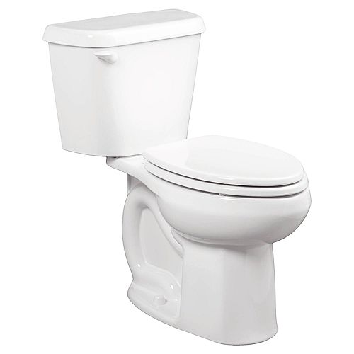 American Standard Colony 10 in. Rough-In 2-Piece 1.28 GPF Single Flush Elongated Toilet in White, Seat Not Included
