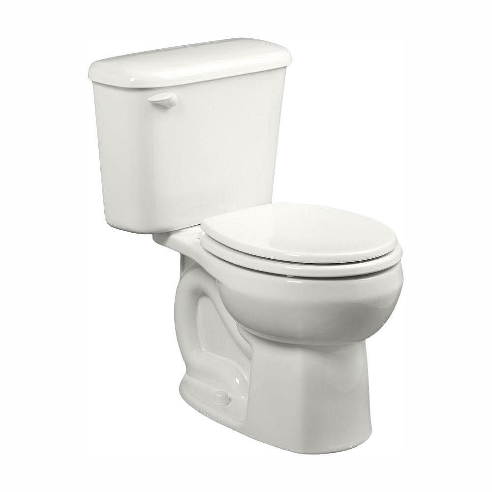 American Standard Colony 10-inch Rough-In 2-piece 1.28 GPF Single Flush Round Toilet in White, Seat Not Included