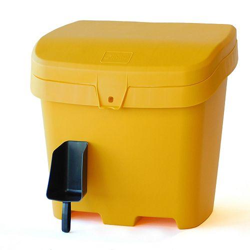 Outdoor Salt, Sand and Storage Bin with Scoop - Yellow