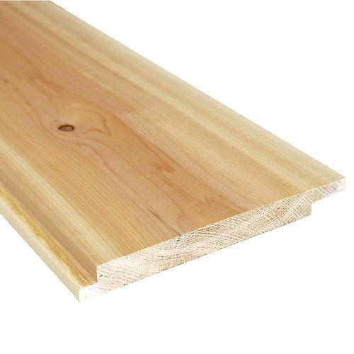 1inch x8 inch x8 ft. Cedar Channel Rustic