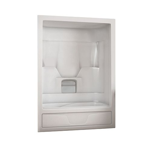 MAAX Aspen 59.5 in. x 30.6 in. x 84.8 in. Acrylic Right Drain 1-Piece Tub Shower Combo in White