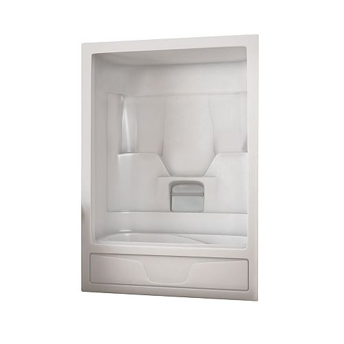 MAAX Aspen 59.5 in. x 30.6 in. x 84.8 in. Acrylic Left Drain 1-Piece Tub Shower Combo in White
