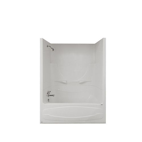 MAAX Figaro II 59 in. x 32 in. x 76 in. Acrylic Left Drain 1-Piece AFR Tub Shower in White