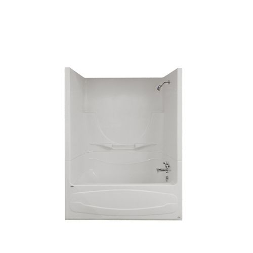 MAAX Figaro II 59 in. x 32 in. x 76 in. Acrylic Right Drain 1-Piece AFR Tub Shower in White