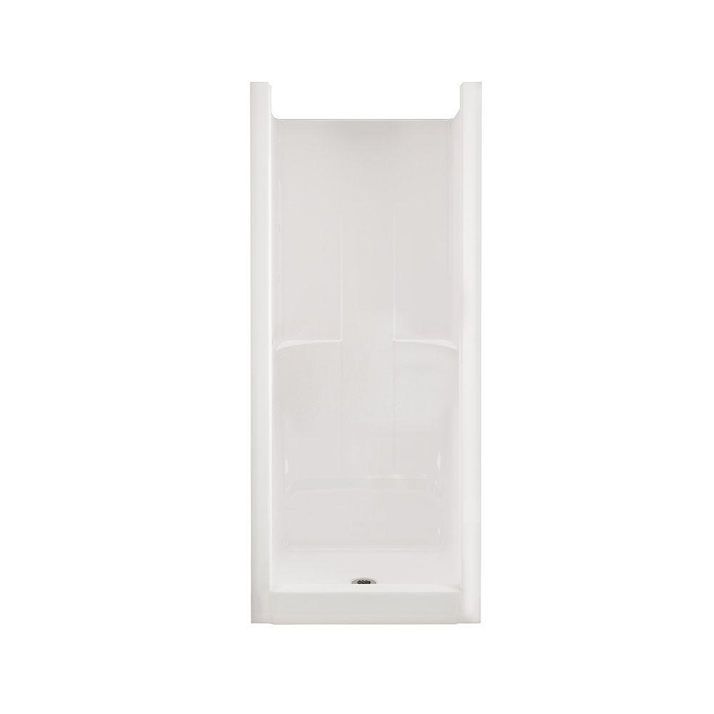 MAAX Jupiter F32 32 in. x 33 in. x 74 in. Fiberglass Center Drain 1-Piece Shower with in White