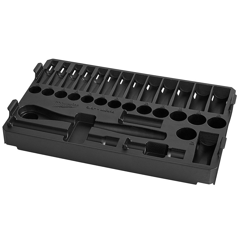 Milwaukee Tool PACKOUT Holding Tray for 3/8 32pc Ratchet and Socket Set