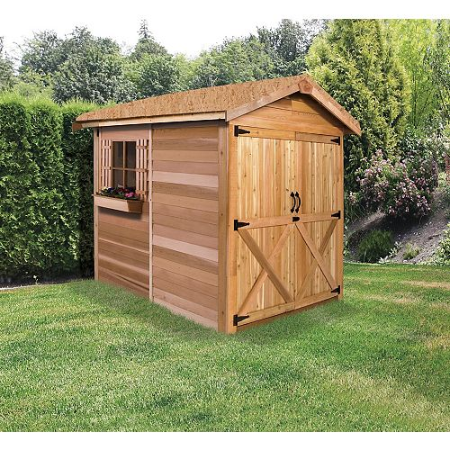 Cedarshed Rancher 6x6 Double Door Cedar Shed