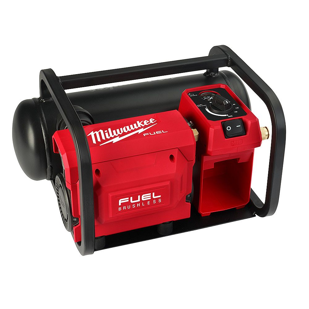 Milwaukee Tool M18 FUEL 18V Lithium-Ion Brushless Cordless 2 Gal. Electric Compact Quiet Compressor (Tool Only)