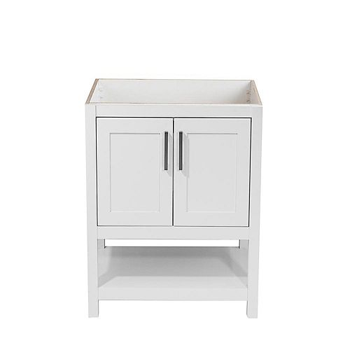 Tufino 25 in. W x 19 in. D Bath Vanity Cabinet Only in White
