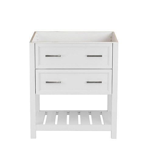 Milan 31 in. W x 22 in. D Bath Vanity Cabinet Only in White