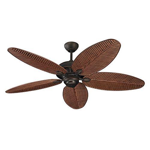 Cruise 52 in. Indoor/Outdoor Roman Bronze Ceiling Fan with American Walnut Blades