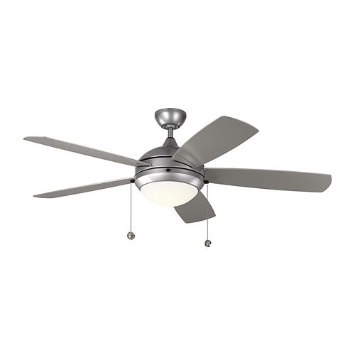 Discus Outdoor 52-inch LED Indoor/Outdoor Painted Brushed Steel Ceiling Fan