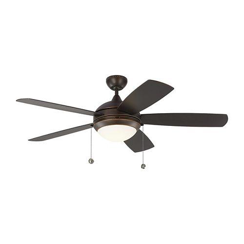 Discus Outdoor 52 in. LED Indoor/Outdoor Roman Bronze Ceiling Fan