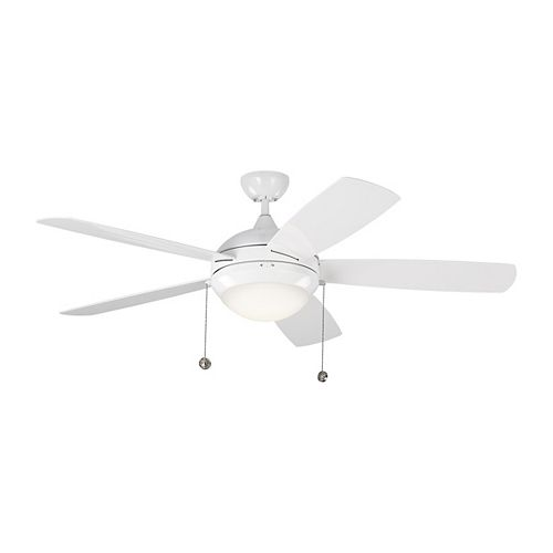 Discus Outdoor 52-inch LED Indoor/Outdoor Ceiling Fan in White