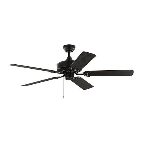 Haven 52 in. Outdoor Matte Black Ceiling Fan
