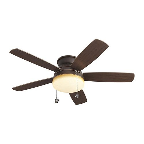 Traverse 52 in. Indoor Roman Bronze Ceiling Fan with Light Kit