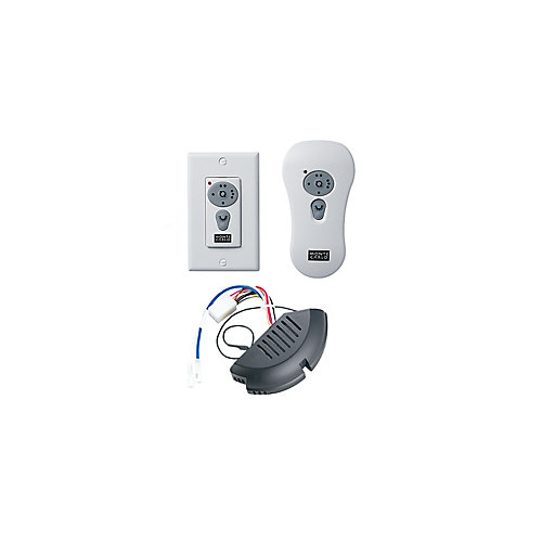 White Reversible Wall Switch/Hand-Held Remote Control Kit