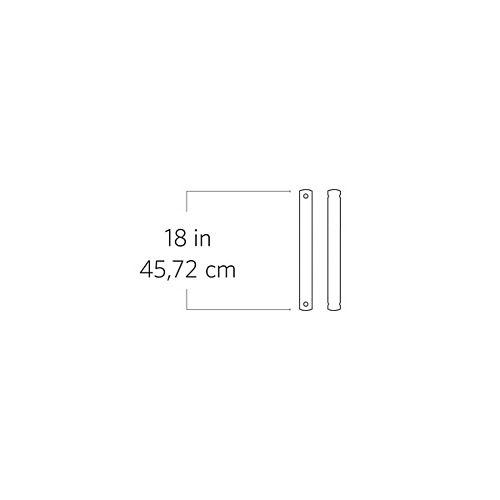 Tige de 45,52 cm (18 po), étain vieilli
