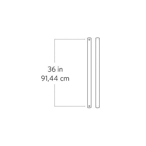 Tige de 91,44 cm (36 po), chrome