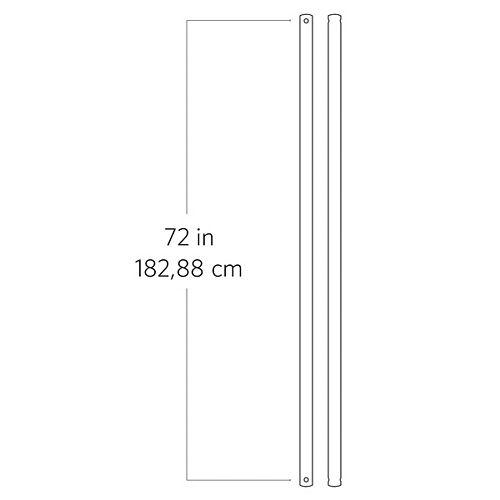 Tige de 182,88 cm (72 po), acier brossé