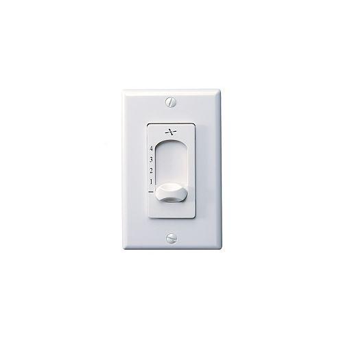 White 2-1/2 in. Wall Fan Switch