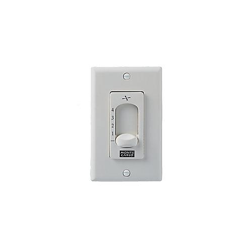 White 4-3/4 in. Wall Fan Switch