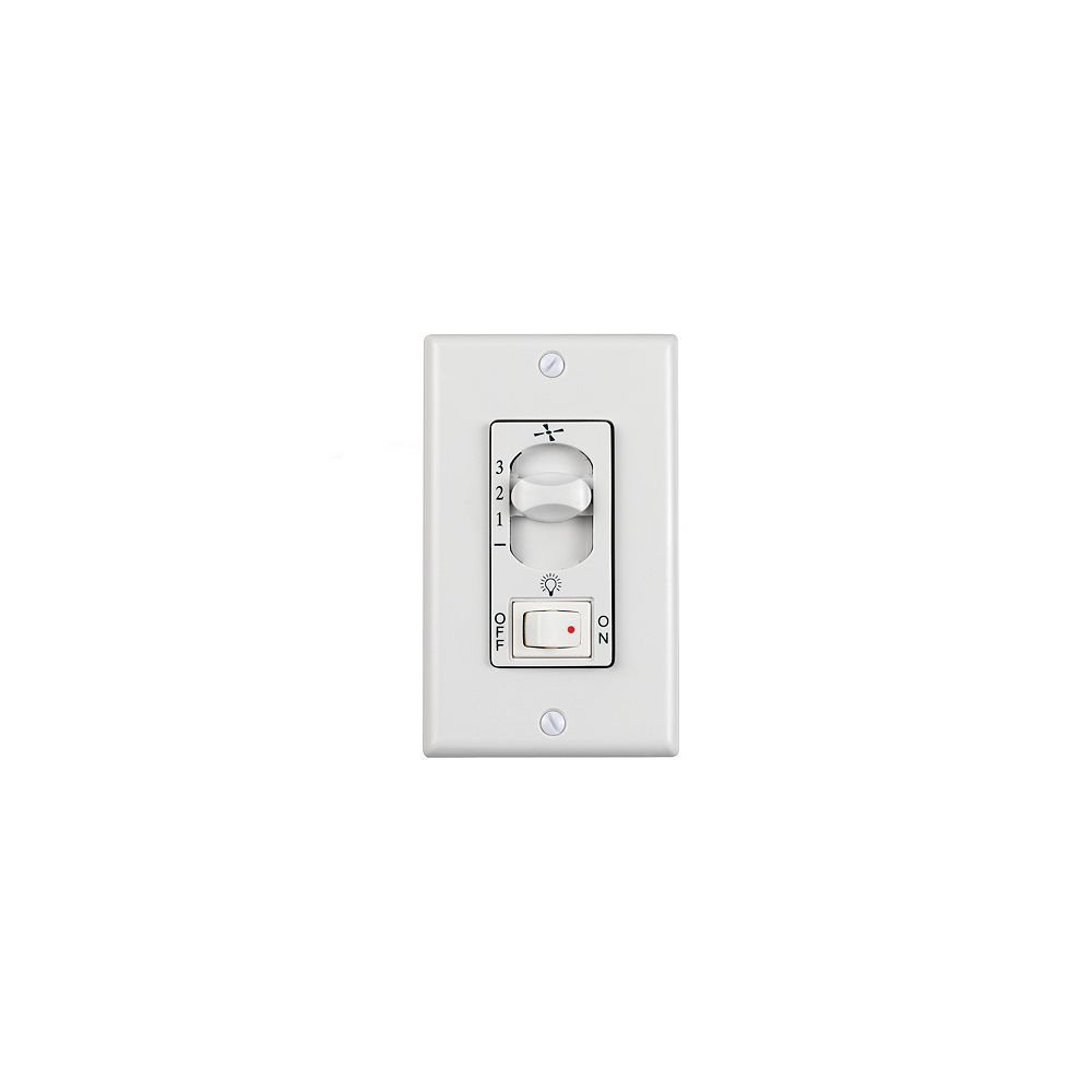 Monte Carlo Fans 3 Speed White Wall Fan Switch The Home Depot Canada
