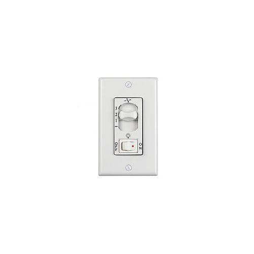 3 Speed White Wall Fan Switch