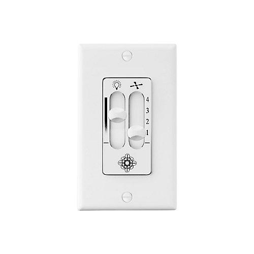 4 Speed White Wall Fan Switch