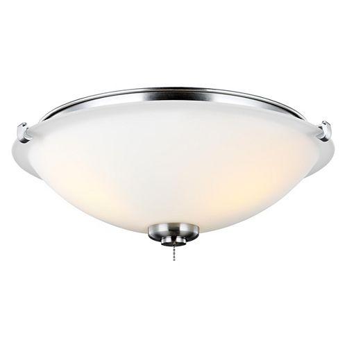 Plafonnier à trois ampoules à DEL acier brossé
