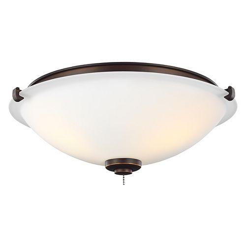 Plafonnier à trois ampoules à DEL, bronze romain